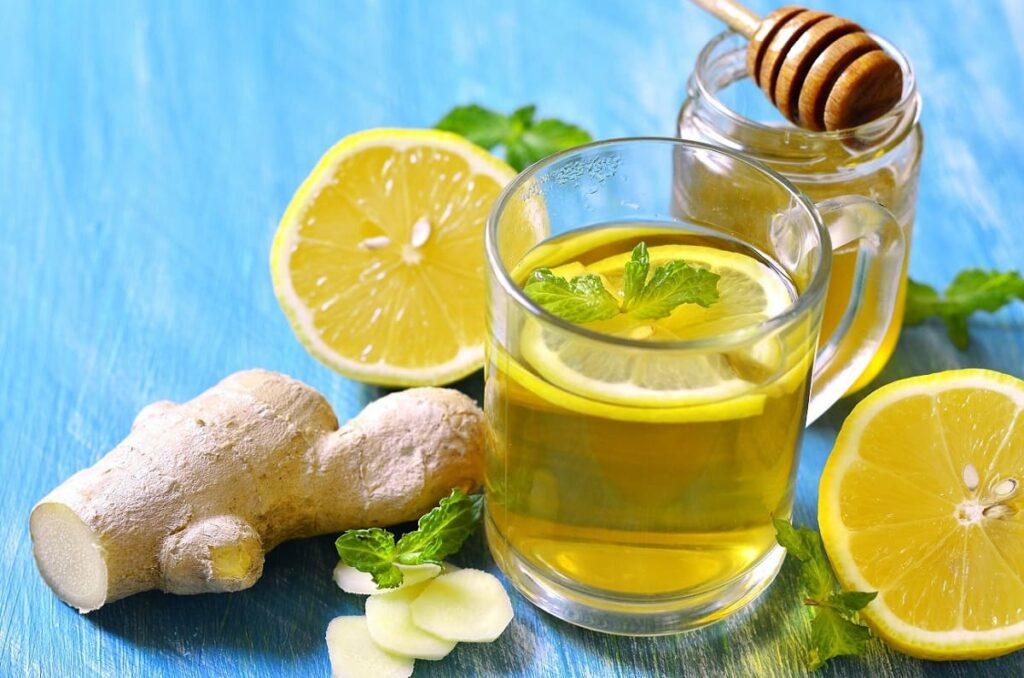 Té de limón, jengibre y miel