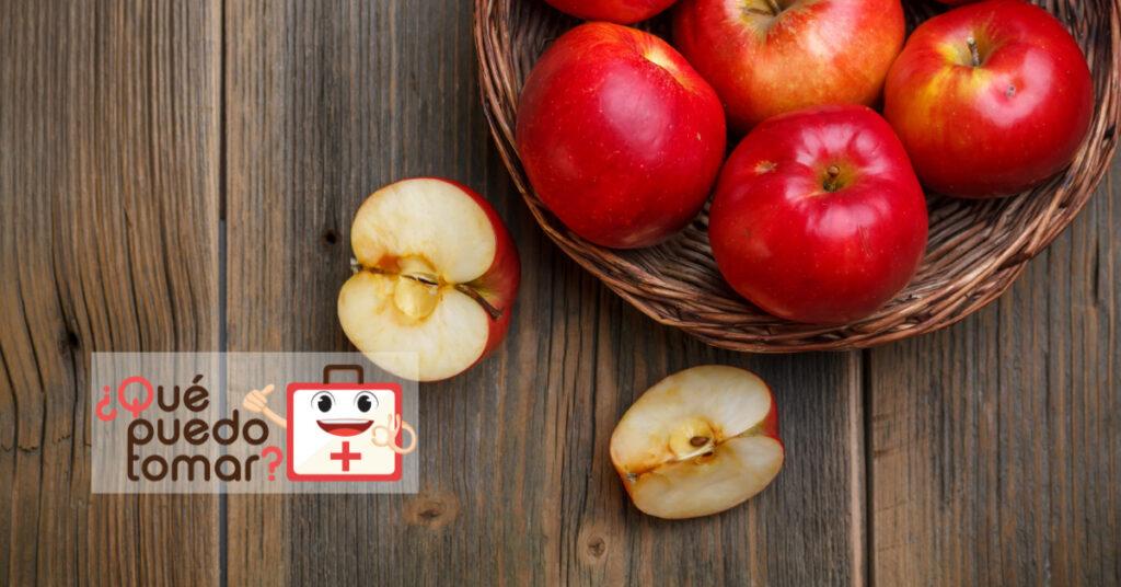La manzana contiene pectina que ayuda a neutralizar la acidez estomacal