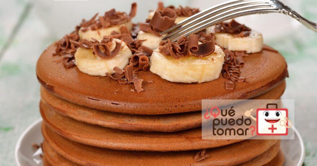 Hot cake de plátano y chocolate