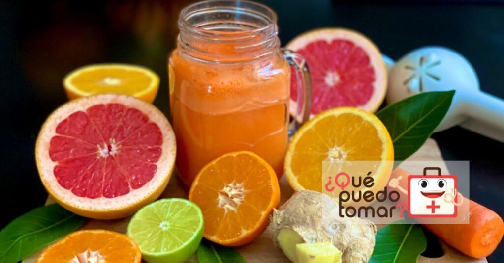 Los jugos de naranja y limón son ricos en vitamina C