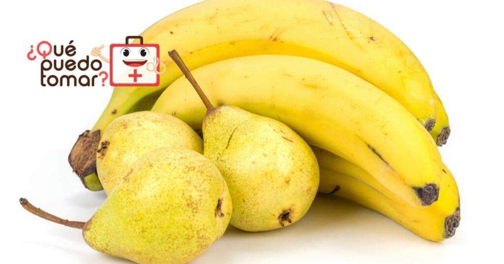Jugo de pera y plátano